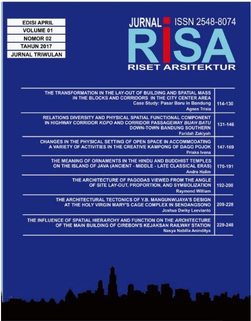 """Lihat Vol 1 No 02 (2017): RISET ARSITEKTUR """"RISA"""""""