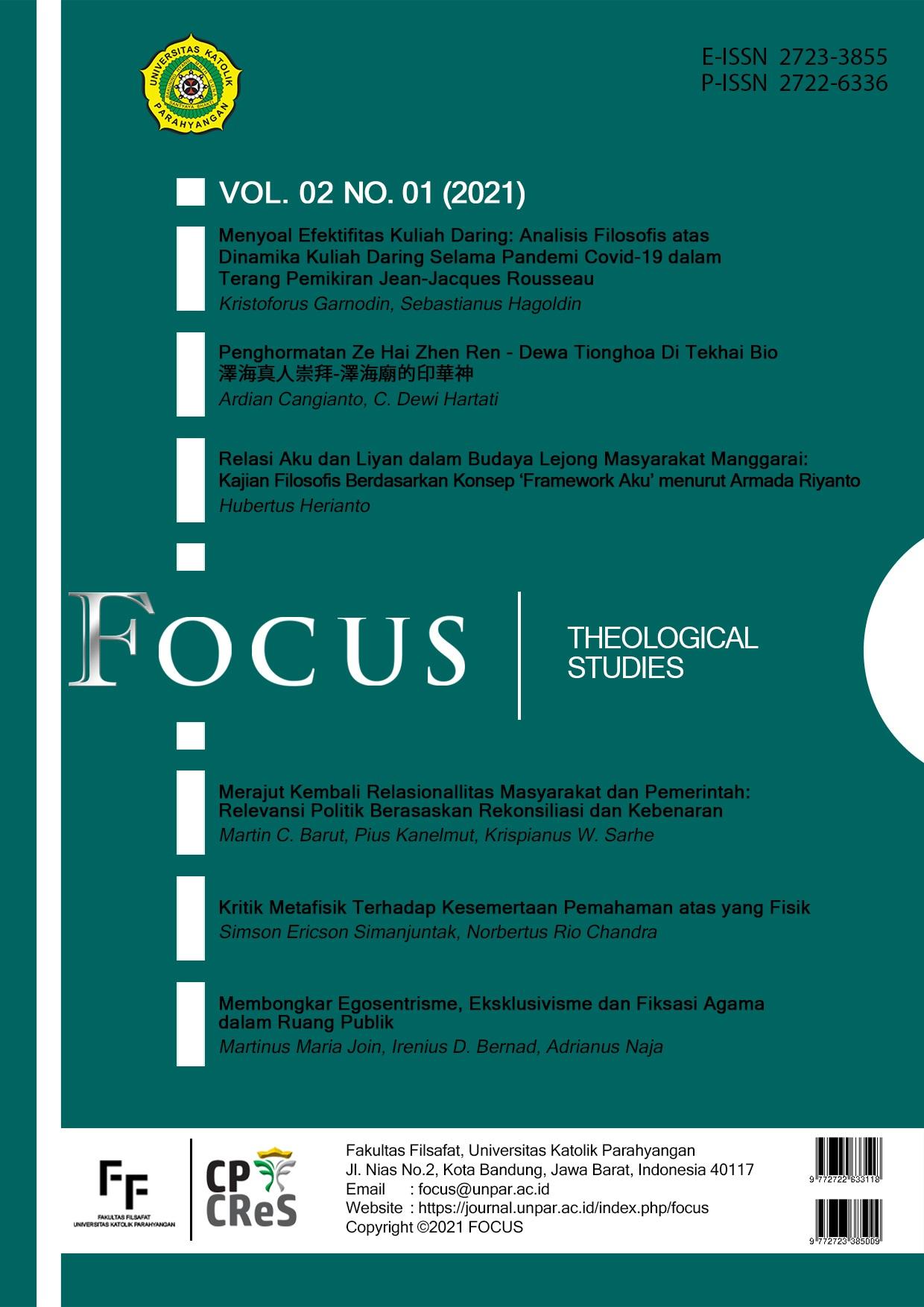 View Vol. 2 No. 1 (2021): Focus