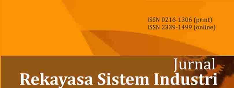 View Vol. 5 No. 2 (2016): Jurnal Rekayasa Sistem Industri